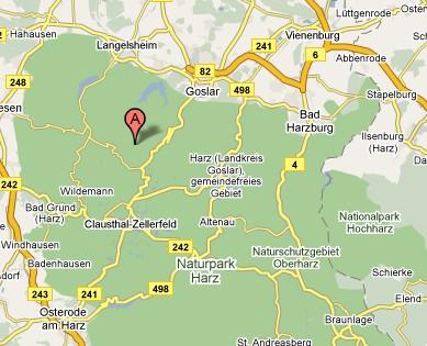 Kort Over Harzen Kort Over Tyskland Harzen 2019 11 16